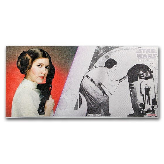 2018 Niue 5g Silver $1 Note Star Wars Princess Leia (Note Only)