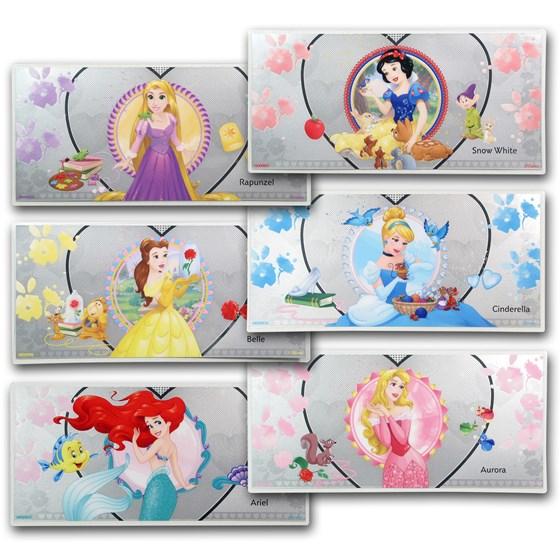 2018 Niue Silver $1 Disney Princess Six-Note Set (w/Album)