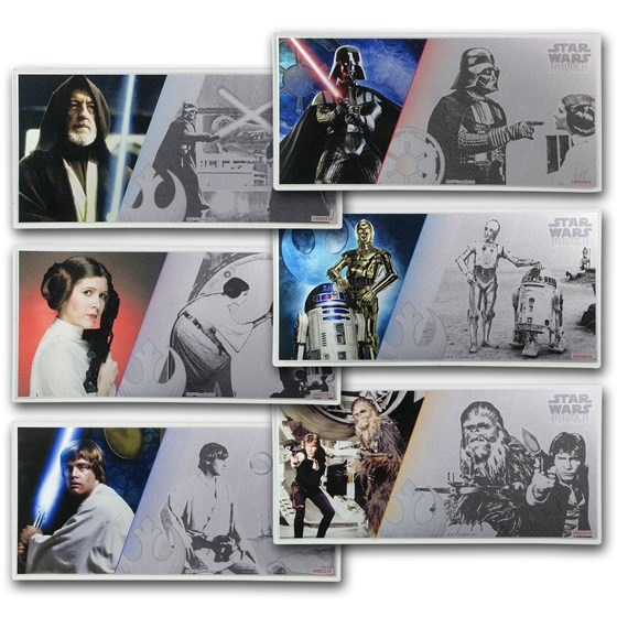 2018 Niue Silver $1 Star Wars Six-Note Set w/Collector's Album