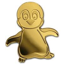 2018 Palau 1/2 gram Gold $1 Little Emperor Penguin