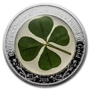 2018 Palau 1 oz Silver $5 Four-Leaf Clover Ounce of Luck Proof