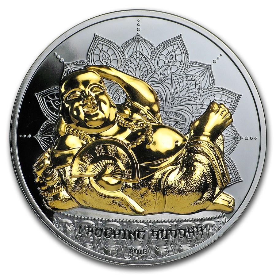 2018 Palau 2 oz Silver $10 Laughing Buddha Coin