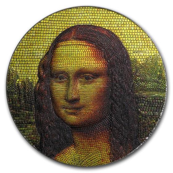 2018 Palau 3 oz Silver Great Micromosaic Passion (Mona Lisa)