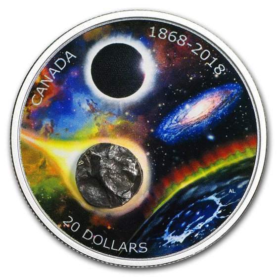 2018 RCM 1 oz Ag $20 150th of The Royal Astronomical Society