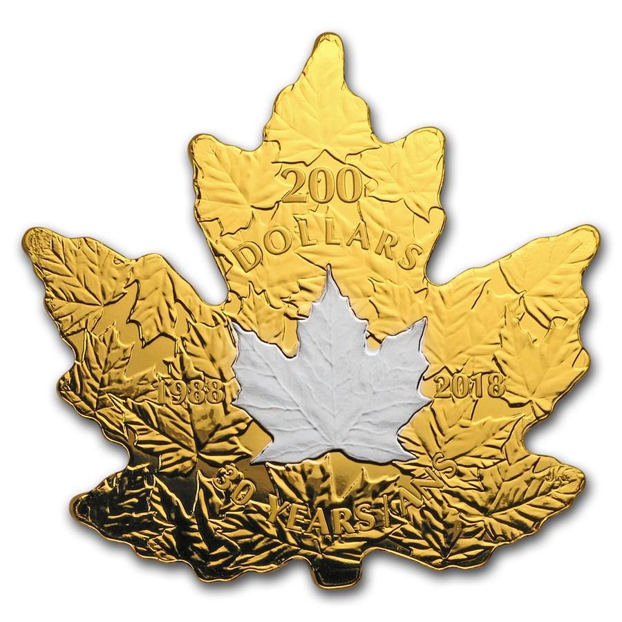 2018 RCM 1 oz Gold $200 30th Anniv. of the Platinum Maple Leaf