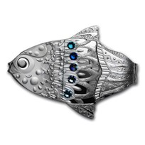2018 Republic of Cameroon 2 oz Silver Make A Wish Fish Dreams