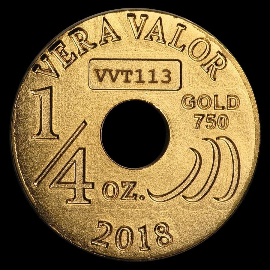 2018 Republic of Chad 1/4 oz Gold Vera Vita BU