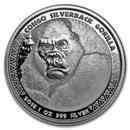 2018 Republic of Congo 1 oz Silver Silverback Gorilla (Prooflike)