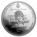 2018 ROS 1 oz Silver Proof 100 Dinar Nikola Tesla (AC)
