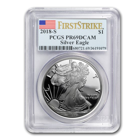 2018-S 1 oz Proof Silver American Eagle PR-69 PCGS (FirstStrike®)