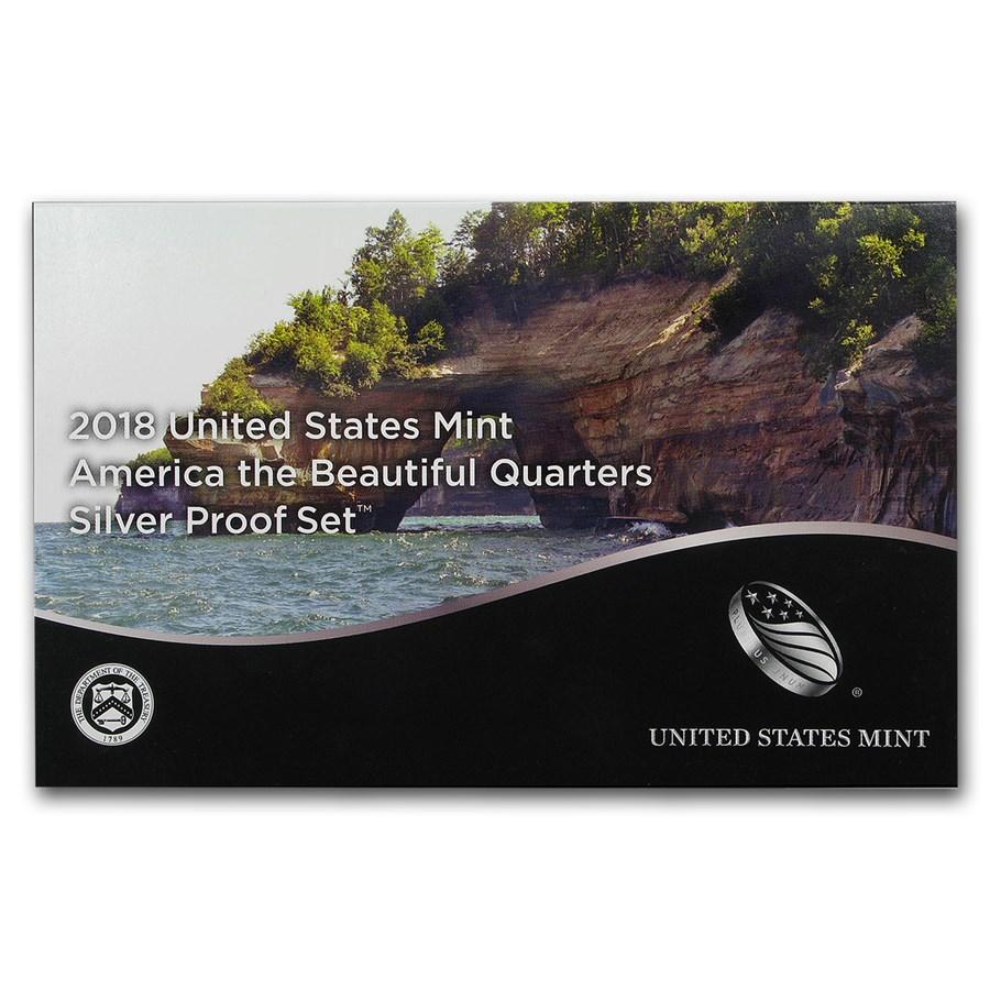 2018-S America the Beautiful Quarters Silver Proof Set