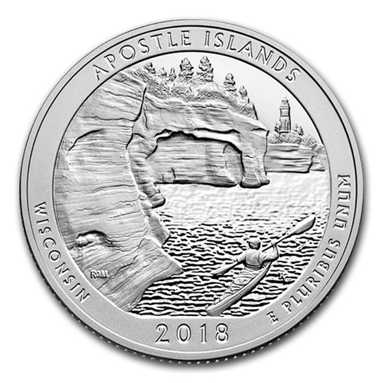 2018-S ATB Quarter Apostle Is National Lakeshore Silver Proof