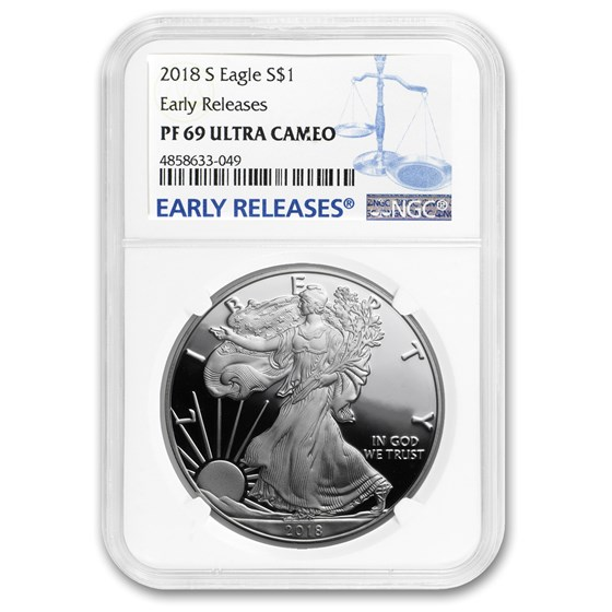 2018-S Proof Silver American Eagle PF-69 NGC (Early Releases)