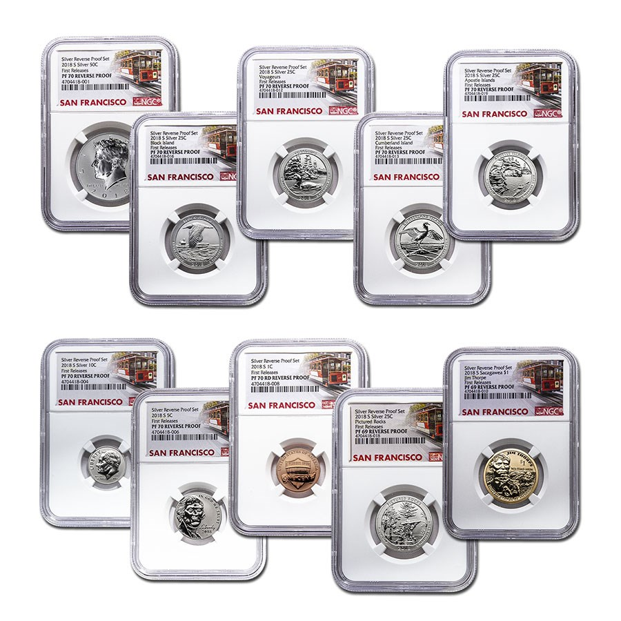 2018-S Silver Reverse Proof Set PF-70/69 NGC (First Releases)