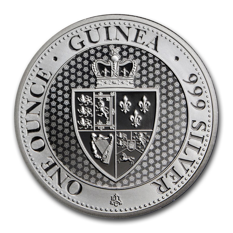 2018 Saint Helena 1 oz Silver £1 Spade Guinea Shield BU