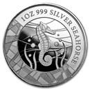 2018 Samoa 1 oz Silver Seahorse BU
