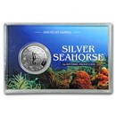 2018 Samoa 1 oz Silver Seahorse Reverse Proof Like Coin