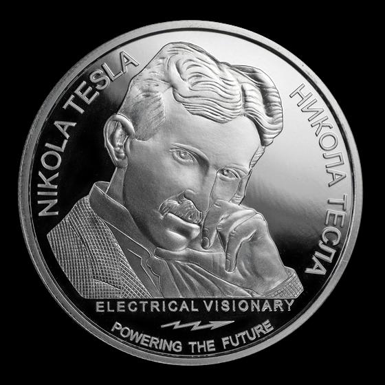 2018 Serbia 1 oz Silver PF 100 Dinar Nikola Tesla AC (No Box/COA)