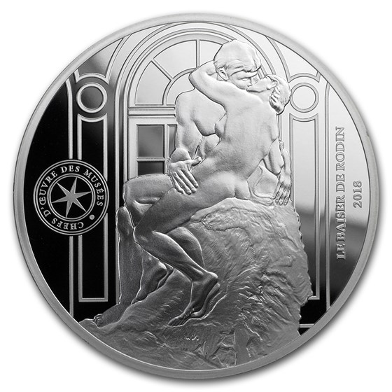 2018 Silver €10 Masterpieces of Museums Proof (Le Baiser)