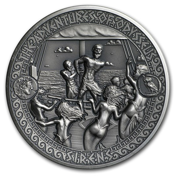 2018 Solomon Isl. Antique Silver Adventures of Odysseus Sirens