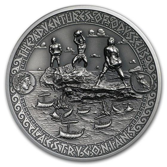 2018 Solomon Isl. Silver Adventures of Odysseus Laestrygonians