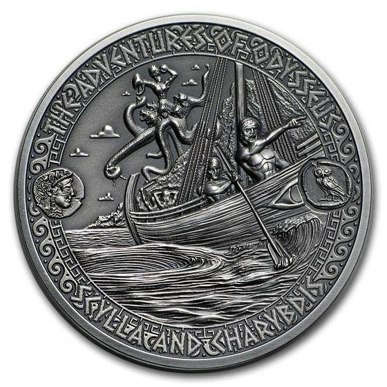 2018 Solomon Isl Silver Adventures of Odysseus Scylla & Charybdis