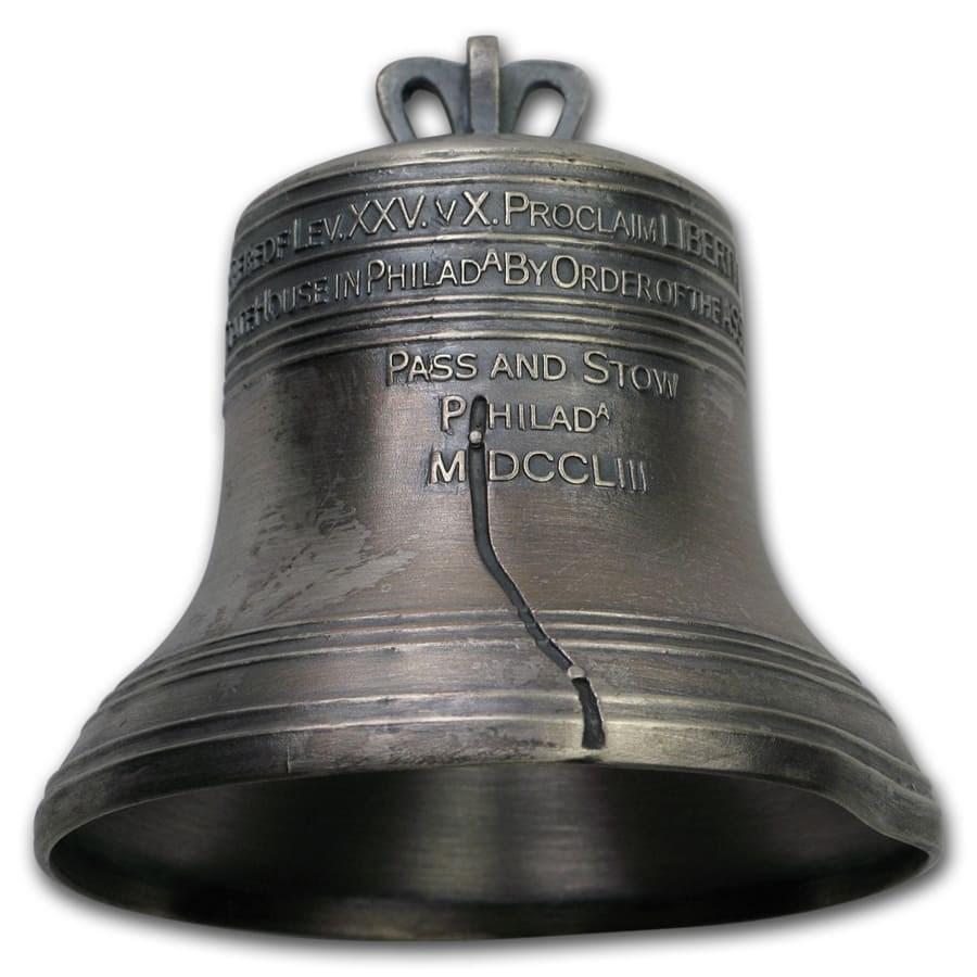 2018 Solomon Islands 4 oz Silver Liberty Bell (Damaged)