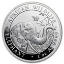 2018 Somalia 1 oz Silver Elephant BU