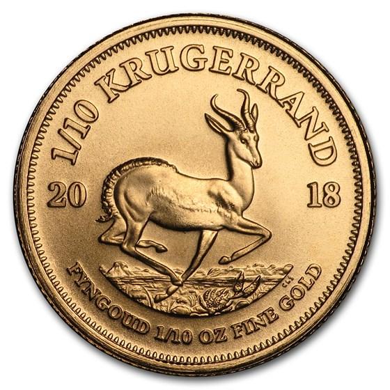 2018 South Africa 1/10 oz Gold Krugerrand