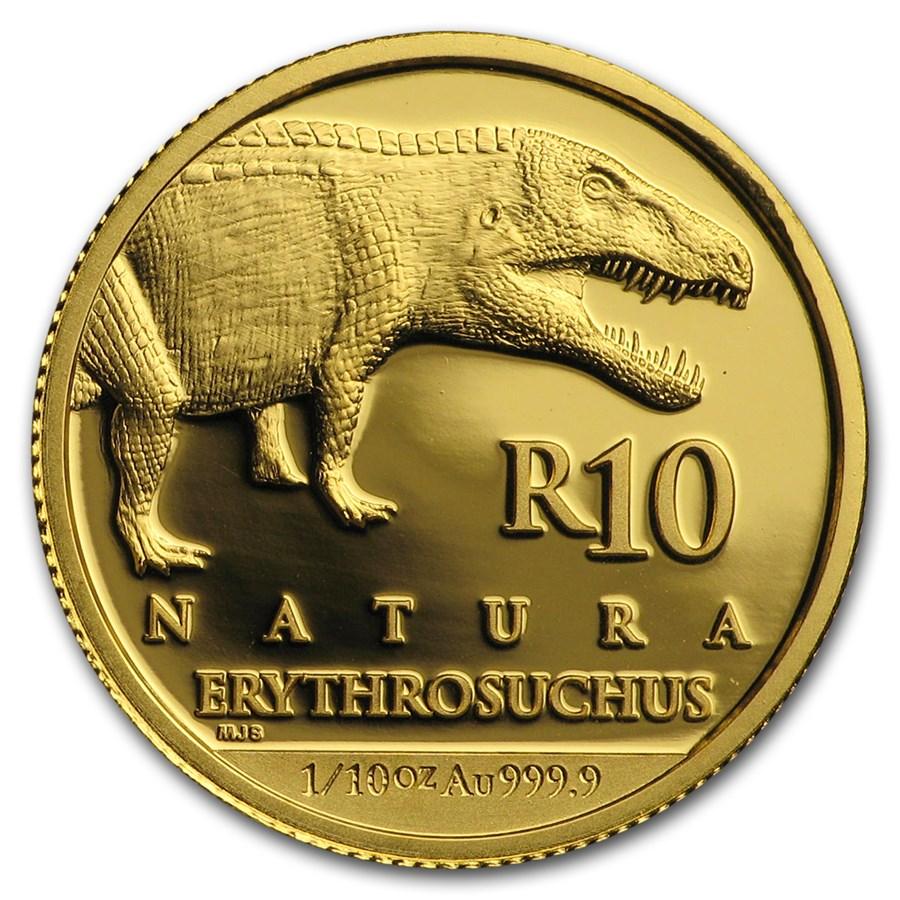 2018 South Africa 1/10 oz Gold Natura Erythrosuchus