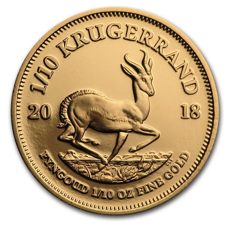2018 South Africa 1/10 oz Proof Gold Krugerrand
