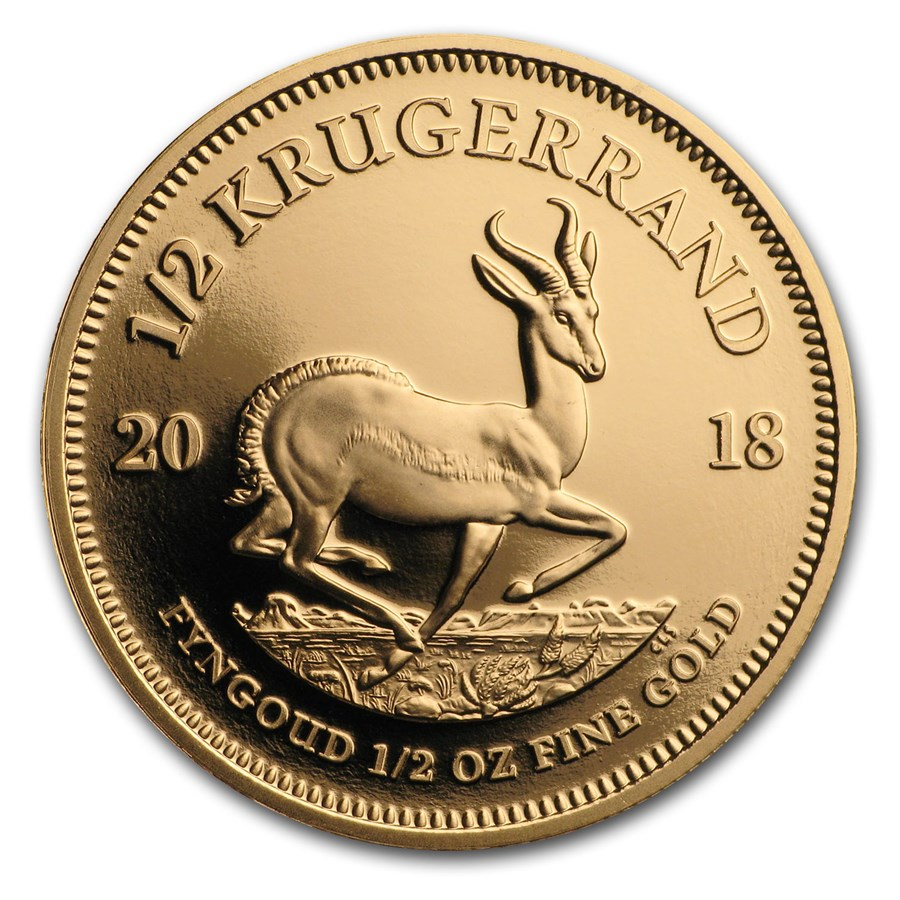 2018 South Africa 1/2 oz Proof Gold Krugerrand