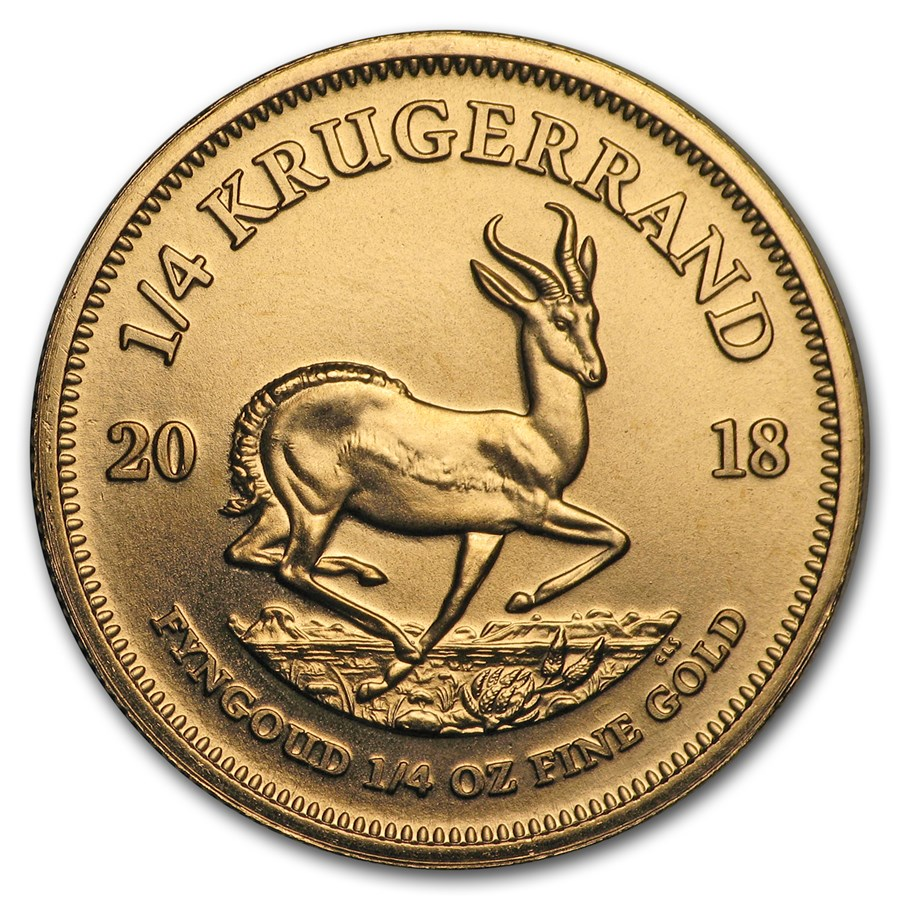 2018 South Africa 1/4 oz Gold Krugerrand