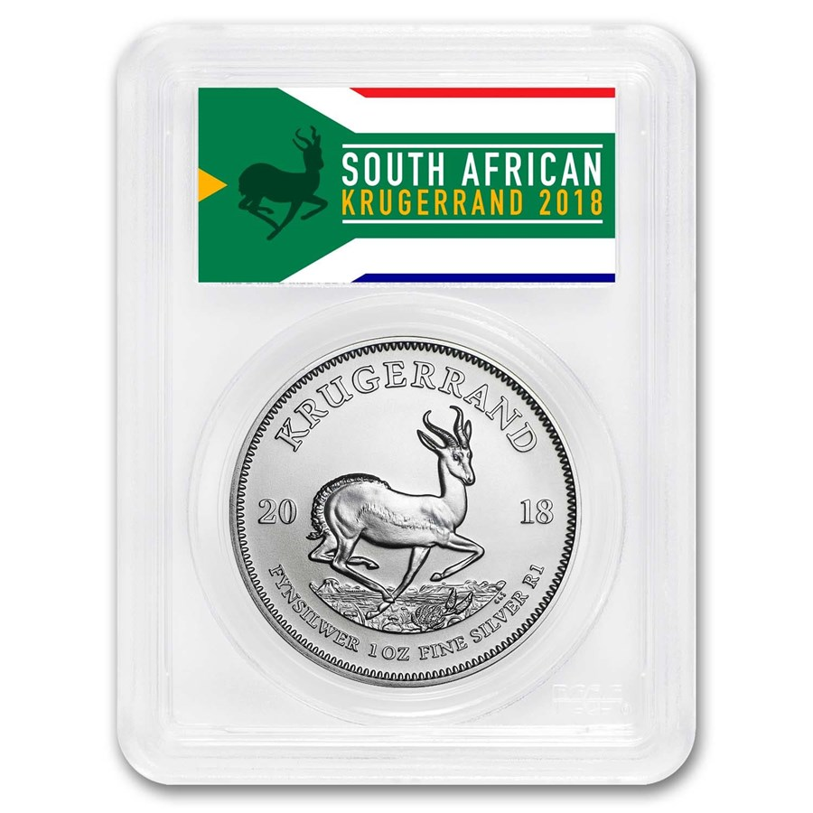 2018 South Africa 1 oz Silver Krugerrand MS-70 PCGS (FS)