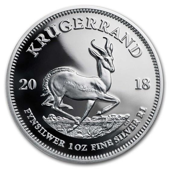 2018 South Africa 1 oz Silver Krugerrand Proof