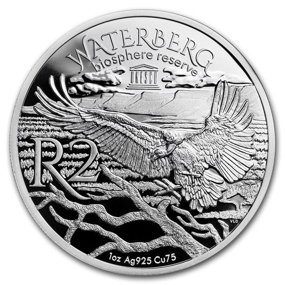 2018 South Africa 1 oz Silver Waterberg Biosphere (Cape Griffon)