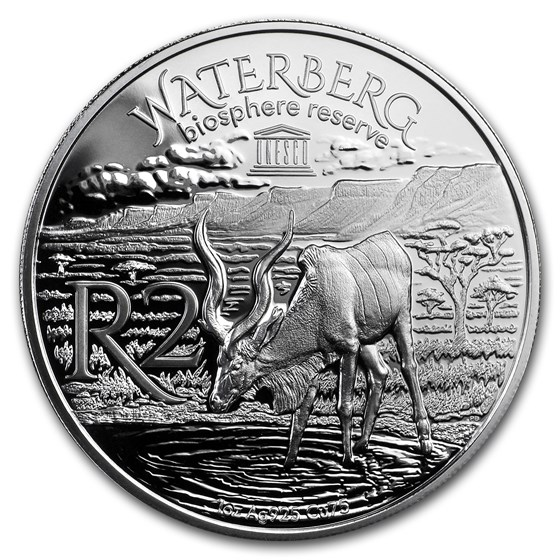 2018 South Africa 1 oz Silver Waterberg Biosphere (Kudu)