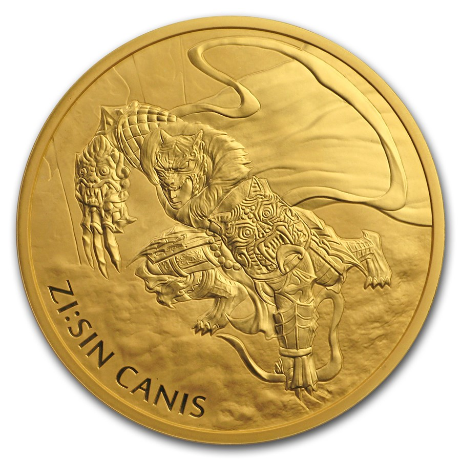 2018 South Korea 1 oz Gold ZI:SIN Canis BU