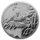 2018 South Korea 10 oz Silver Chiwoo Cheonwang BU