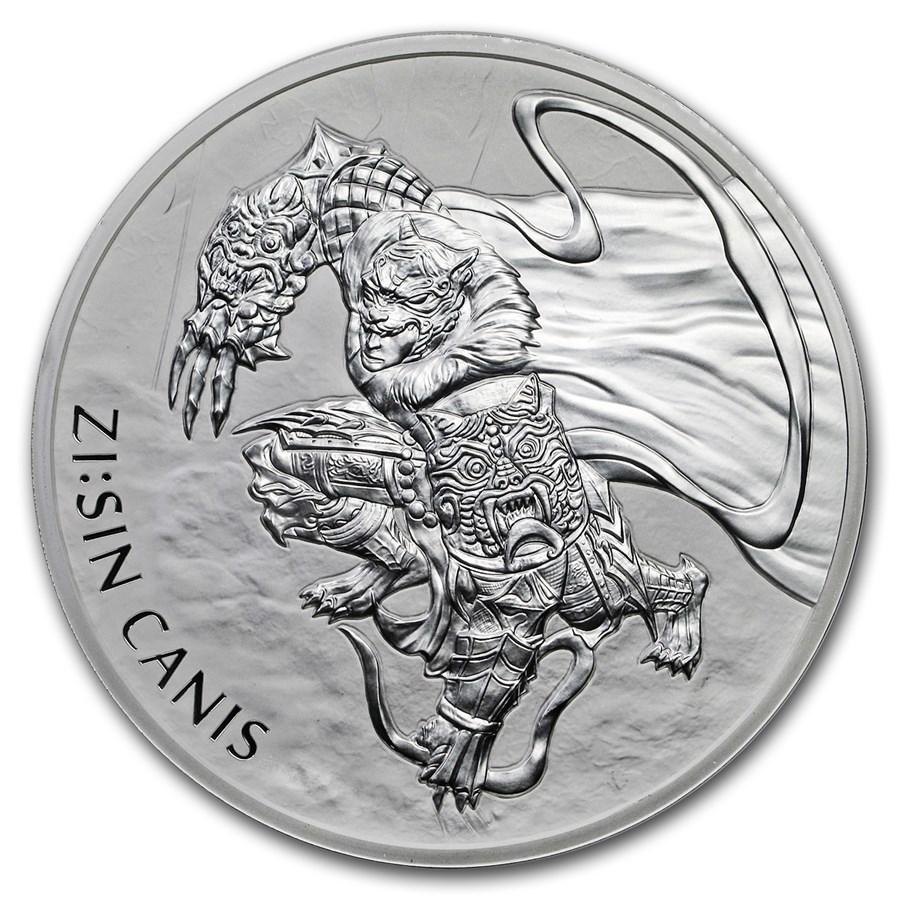 2018 South Korea 10 oz Silver ZI:SIN Canis BU