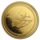 2018 St. Vincent & The Grenadines 1 oz Gold Seaplane BU