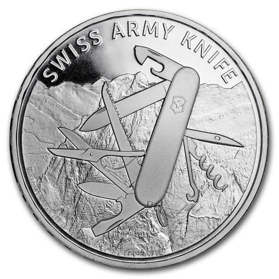 2018 Switzerland Silver 20 CHF Swiss Army Knife BU (Folder)