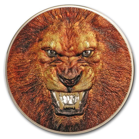 2018 Tanzania 2 oz Silver Rare Wildlife (Panthera Leo Lion)
