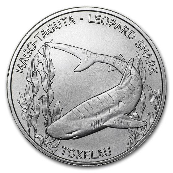 2018 Tokelau 1 oz Silver $5 Leopard Shark