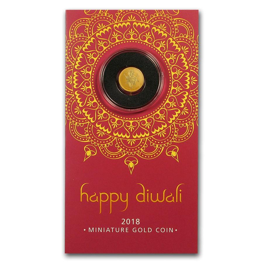 2018 Tuvalu 1 gram Gold Diwali