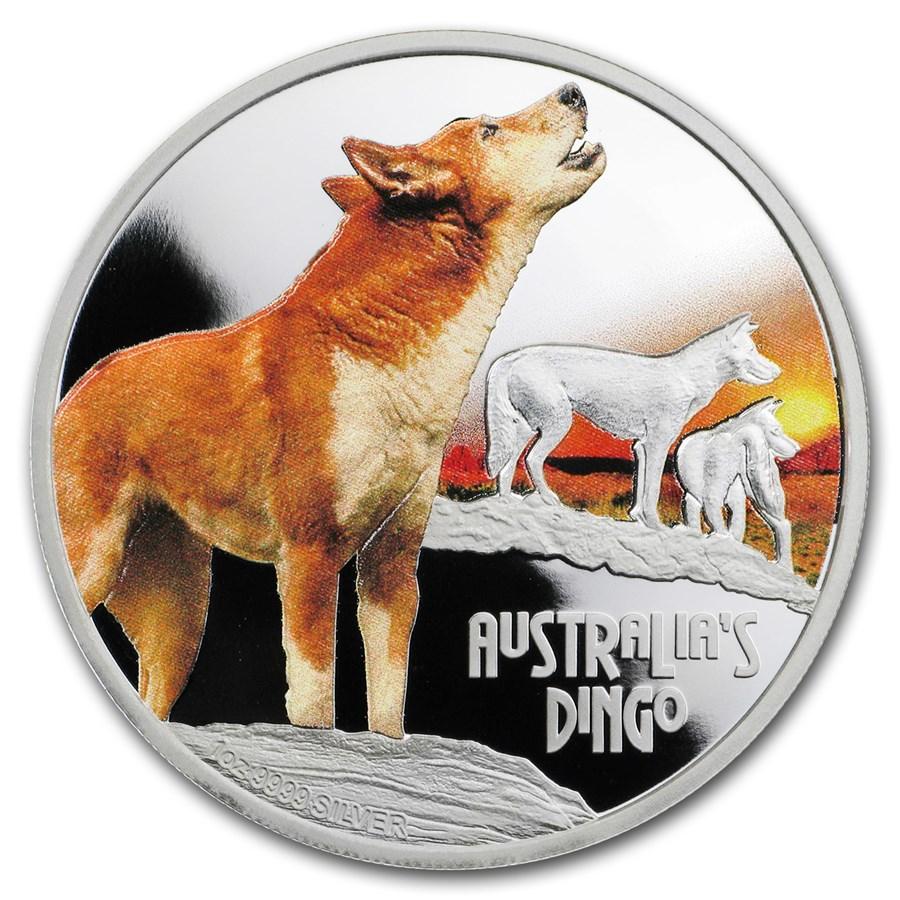 2018 Tuvalu 1 oz Silver Australian Dingo Proof
