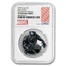 2018 Tuvalu 1 oz Silver Black Panther Proof PF-70 NGC