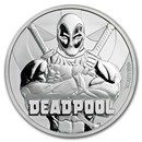 2018 Tuvalu 1 oz Silver Coin Marvel Series Deadpool BU