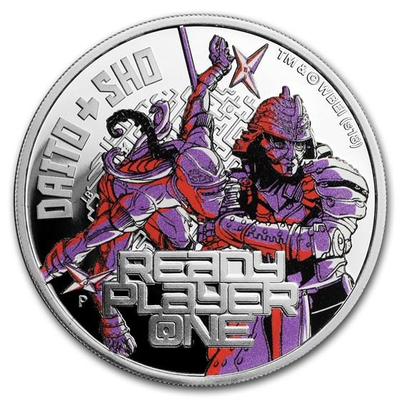 2018 Tuvalu 1 oz Silver Ready Player One Daito & Sho Proof