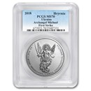 2018 Ukraine 1 oz Silver Archangel Michael MS-70 PCGS (FS)